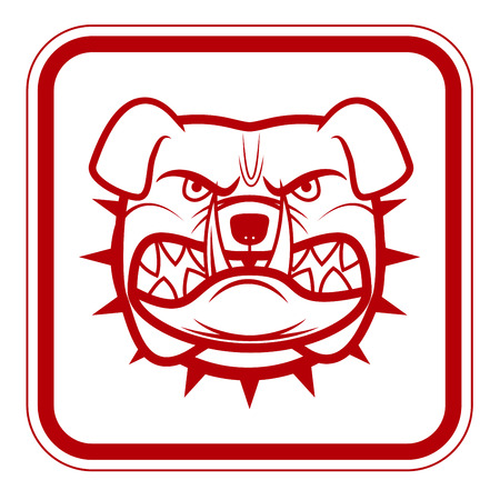 beware dog: Beware of Dog  Red Danger Sign. Vector Illustration EPS8 Illustration