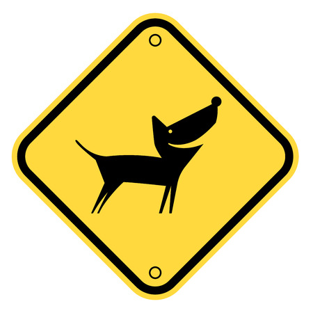 little dog: Friendly Dogs  Signs Humorous Comic Labels and Plates Collection. Vector Illustration