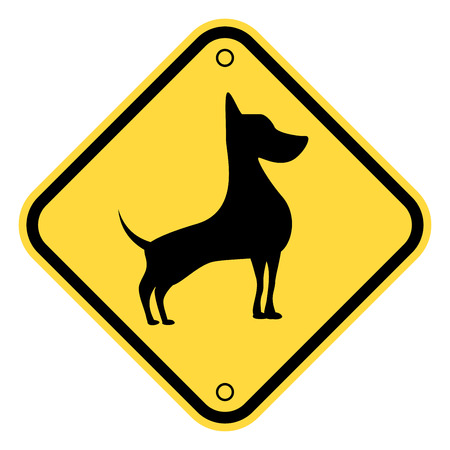 beware of the dog: Friendly Dogs  Signs Humorous Comic Labels and Plates Collection. Vector Illustration