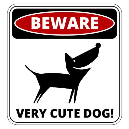 해학적 인: Very Cute Dogs  Signs Humorous Comic Labels and Plates Collection. Vector Illustration