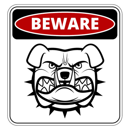 beware dog: Beware of Dog   Danger Sign. Vector Illustration
