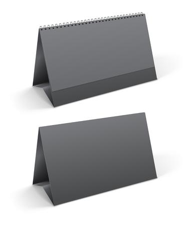 desktops: Two gray desktop calendar realistic  template. Vector illustration Illustration