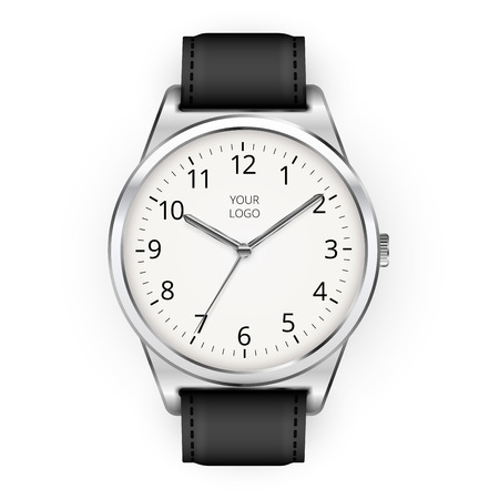 Vector realistic classic watch on a white background