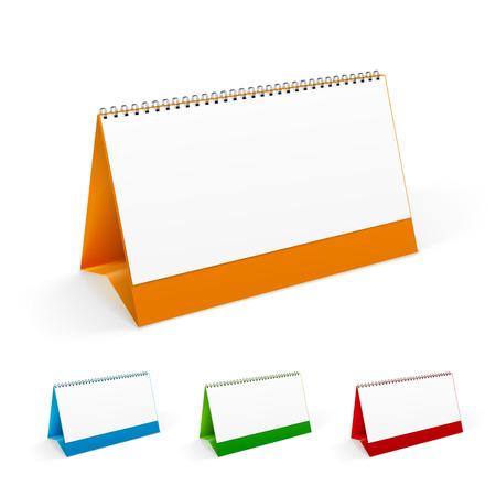 business meeting computer: Four colored desktop calendar realistic  template.
