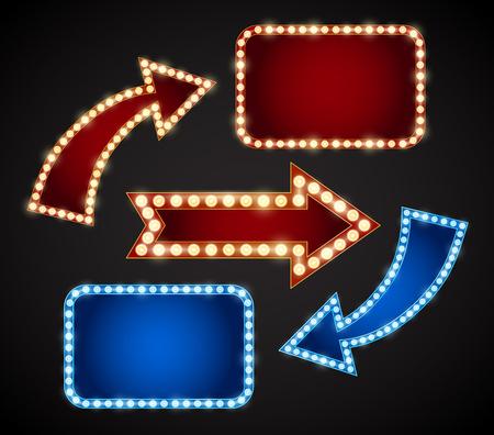 電球、ベクトル図の赤と青のデザイン要素