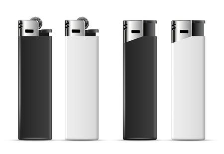 encendedores: Realistas encendedores merchandising baratos en blanco y negro