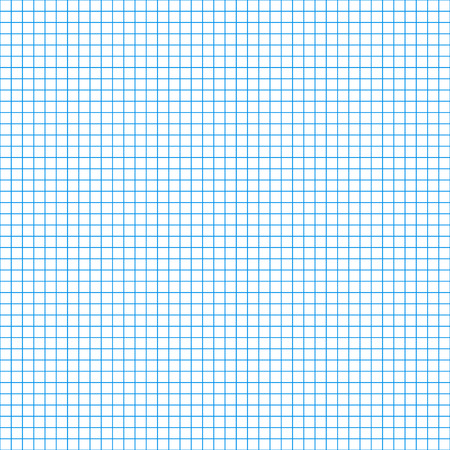 Technical 5mm step blue grid. Square cell seamless pattern vector background Vettoriali