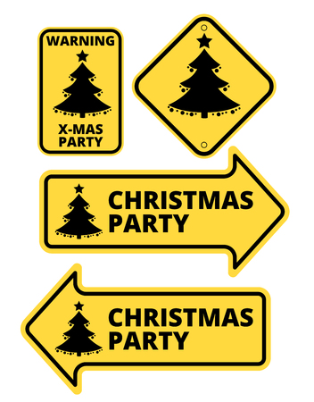 humourous: Christmas Party Humourous Road Sign