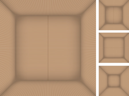 cajas de carton: Conjunto de cajas de cartón, ver al fondo de la caja de arriba. Vectores