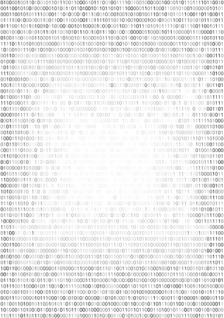 listing: Gradient fall off binary code screen listing table cypher, white, vector background Illustration