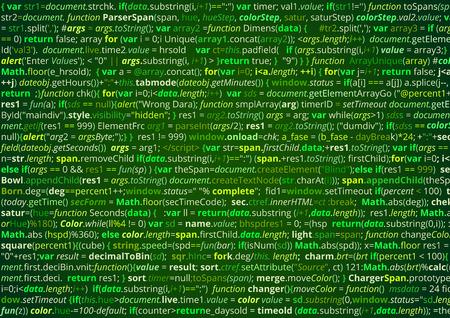 schermo Il codice sorgente di astratto elenco programma per computer. Sfondo verde vettoriale Vettoriali