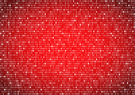 cypher: Binary background red screen, machine code cypher, black, vector background