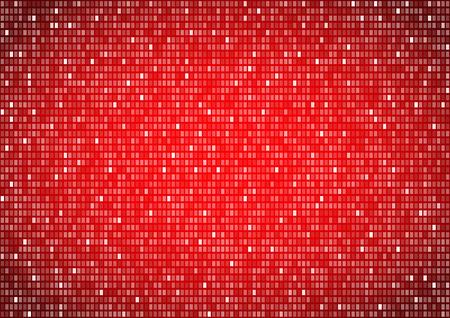 bit background: Binary background red screen, machine code cypher, black, vector background