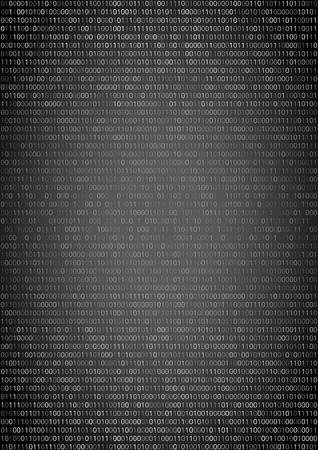 listing: Binary machine code, computer program listing.  Vertical vector a4 background