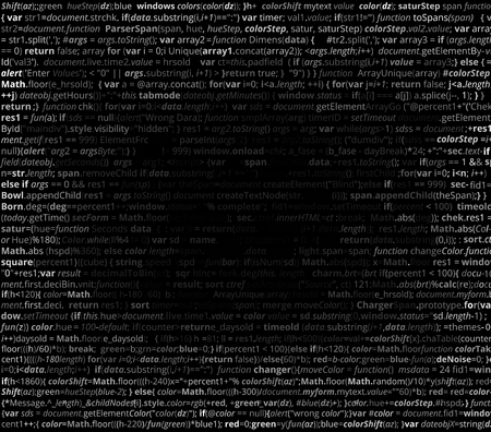 web background: Abstract program listing with gradient fall off for your text. Screen of source code script. Vector background