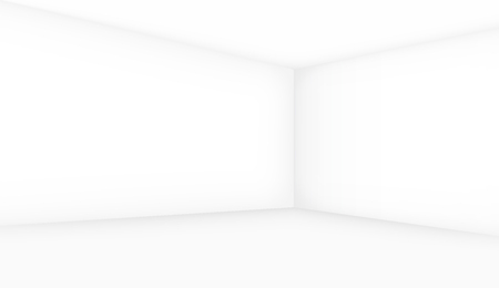 show case: Empty room template, walls with perspective. Vector background