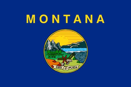 Montana USA State Flag