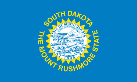 south dakota: South Dakota USA State Flag Illustration
