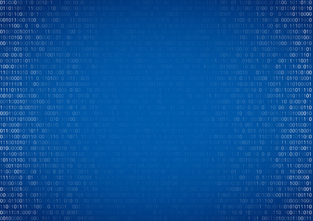 listing: Gradient fall off binary code screen listing table cypher, blue