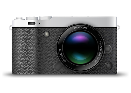 generalized: Mirror-less interchangeable lens digital photo camera. Illustration