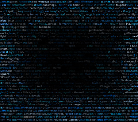 debugging: Abstract program listing with gradient fall off for your text. Screen of source code script.