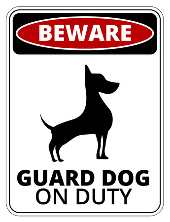 mongrel: Danger Dog Signs Humorous Comic Labels and Plates Collection. Vector EPS8 set
