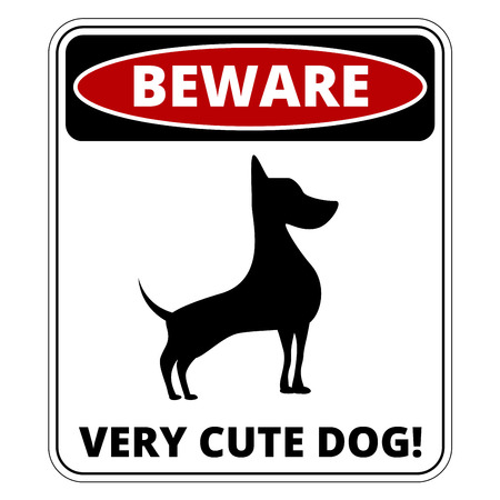 humorous: Very Cute Dogs  Signs Humorous Comic Labels and Plates Collection. Vector Illustration