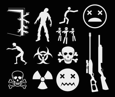 severed: Zombies Apocalypse Sign and Symbols - Vector icon set EPS8