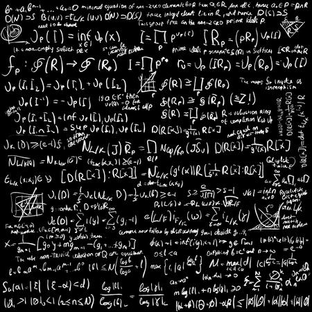 mess: Maths algebra formulas on chalkboard vector background