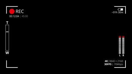 黒いカメラ画面