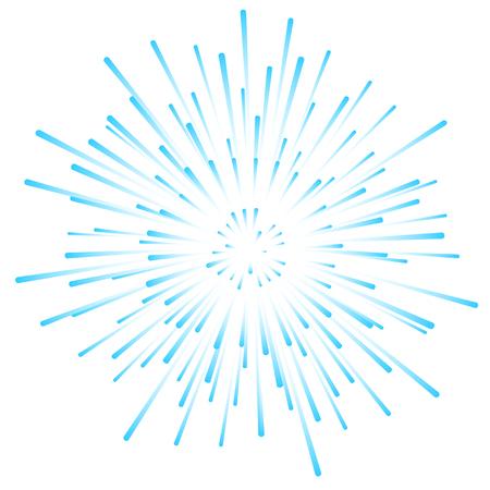 nova: Blue nova star explosion dynamic rays background.