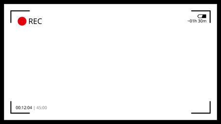 aperture grid: Minimal camera screen Illustration