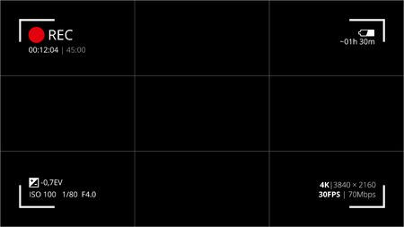 aperture grid: Black camera screen