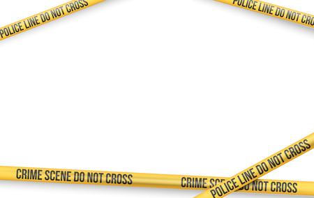 Vector Reihe von Gefahr und Absperrband Linien für die Beschränkung und gefährlichen Zonen, Baustelle, Kriminalität Orte