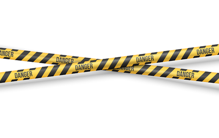 cordon: Police Line or other Danger restriction Tape Vector Background