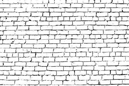 aged: White rust aged grungy brick wall vector background