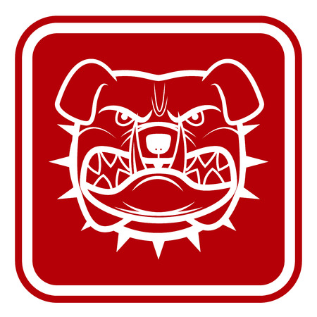 no trespassing: Beware of Dog Red Danger Sign.
