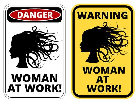thoughtless: Blonde at work joke humorous Sign.