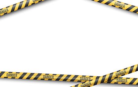 police line do not cross: Police Line or other Danger restriction Tape Vector Background