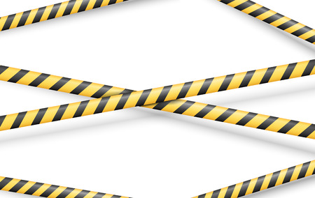 Police Line or other Danger restriction Tape Vector Background