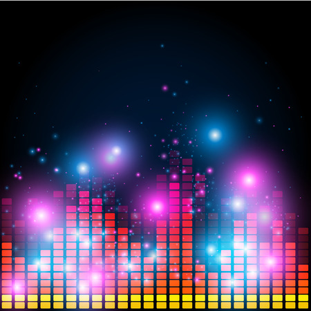 analyzer: Abstract equalizer, night music club life vector concept