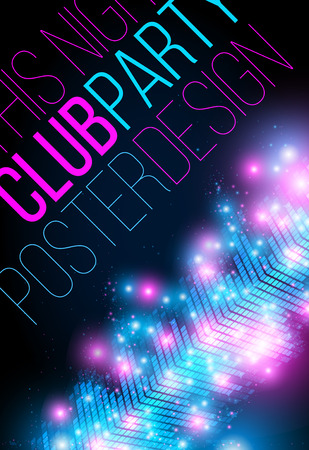 Club night party vertical poster design template. Abstract equalizer, music life vector concept