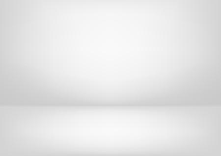 Clear studio light vector white background for product presentation Illustration