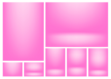 writable: Pink gradients for creative project backgrounds or product presentation. Vector backdrop set Illustration