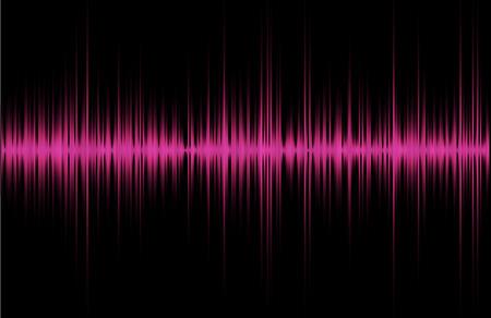 violet red: Pink violet red music sound waves for equalizer, vector illustration of musical pulse