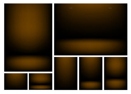 writable: Dark brown gradients for creative project backgrounds or product presentation. Vector backdrop set