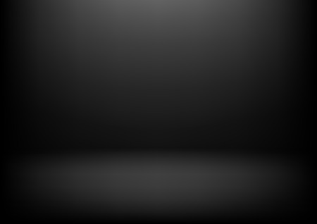 Clear studio dark vector black background for product presentation Illustration