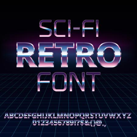 Sci-Fi retro font