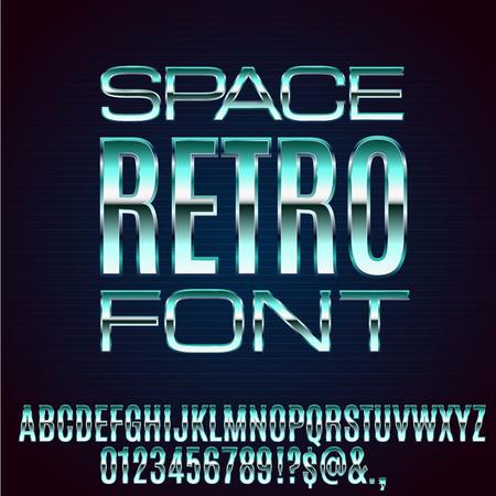 lazer: Retro Future Font Illustration