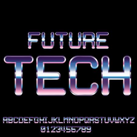 retro: Sci-Fi retro font